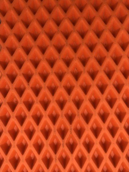 Лист Эва ромб Оранжевый (3.7 кв.м.) B+